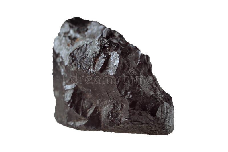 Geïsoleerd magnetietmineraal stock foto's