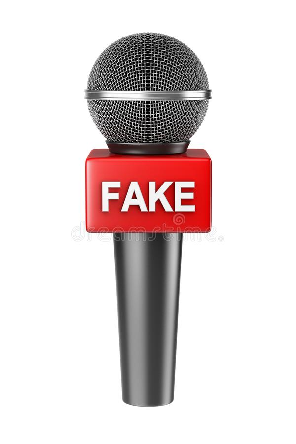 Geïsoleerd microfoon Vals Nieuws royalty-vrije illustratie