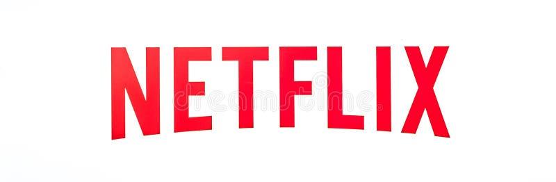Geïsoleerd Netflixembleem royalty-vrije stock afbeelding