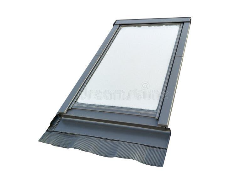 Geïsoleerd nieuw zolder plastic venster royalty-vrije stock afbeelding