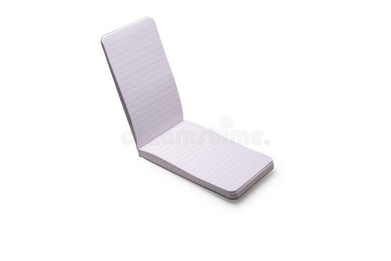 Geïsoleerd notebookblok stock foto