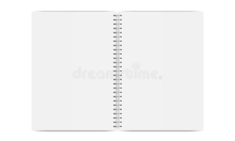 Geïsoleerd notitieboekje open model royalty-vrije illustratie