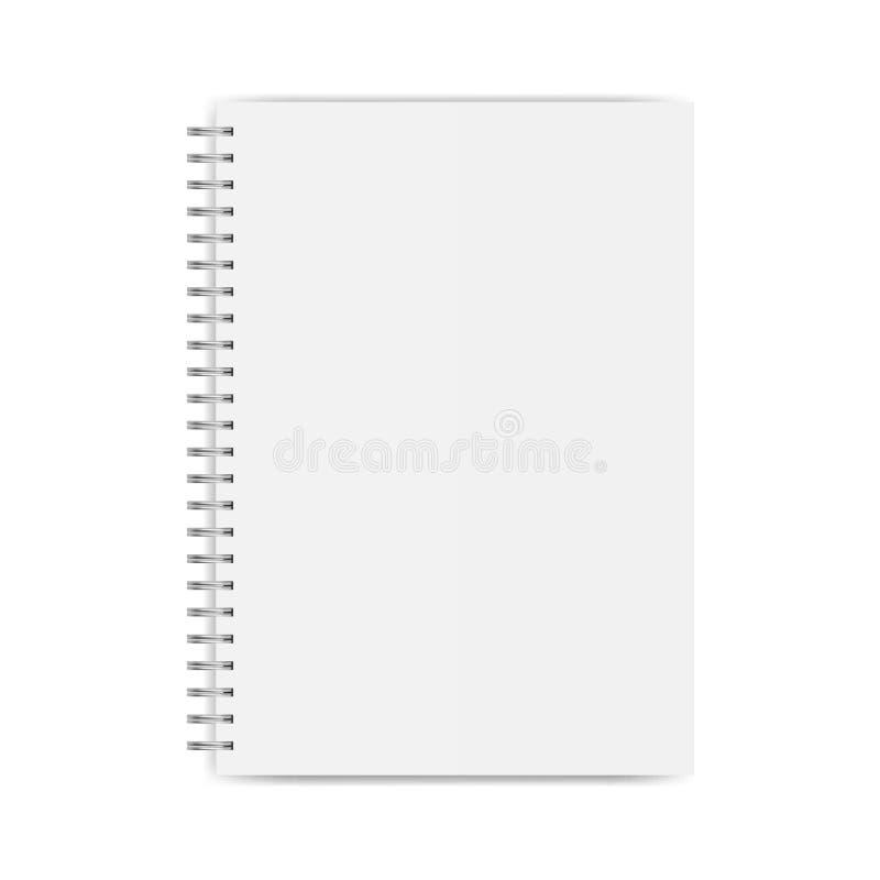 Geïsoleerd notitieboekjemodel vector illustratie