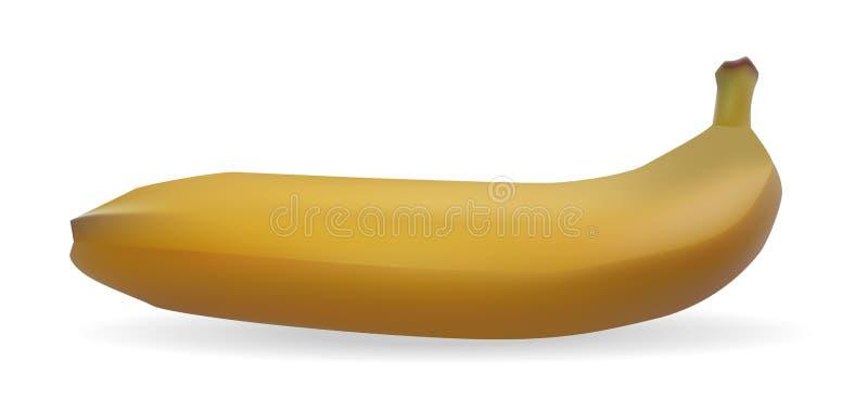 Geïsoleerd op witte gele banaan als achtergrond stock illustratie