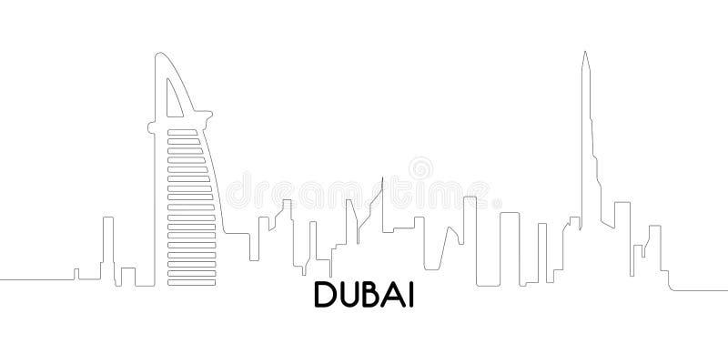 Geïsoleerd overzicht van Doubai vector illustratie