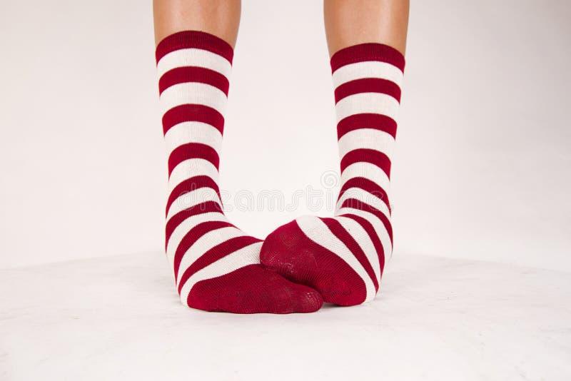Geïsoleerd paar sokken royalty-vrije stock foto's