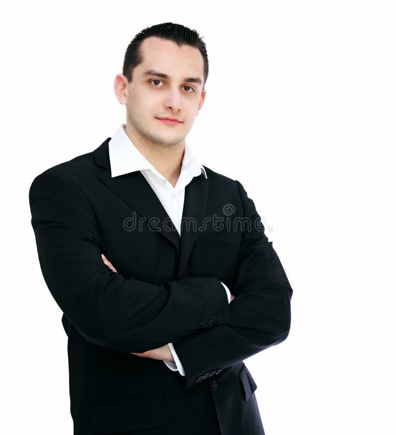 Geïsoleerd portret van zakenman royalty-vrije stock fotografie