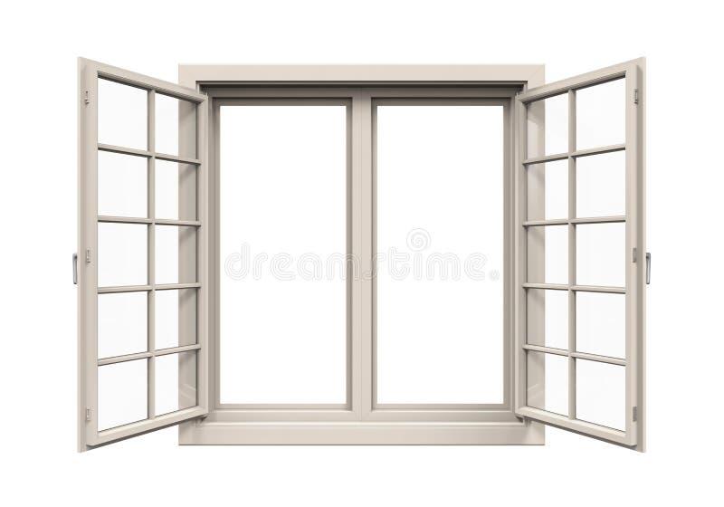 Geïsoleerd raamkozijn stock illustratie