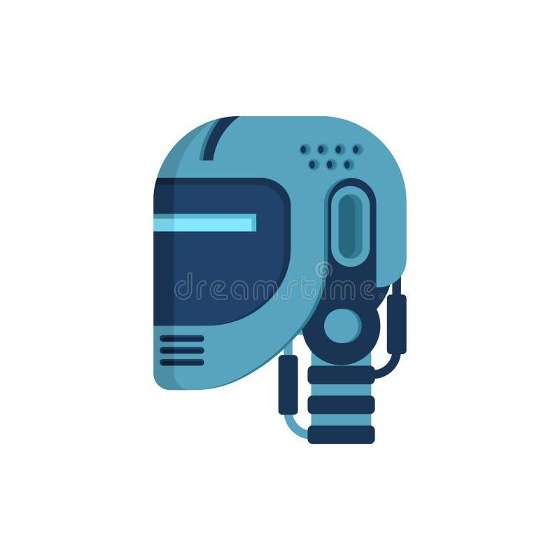 Geïsoleerd robothoofd Cyborggezicht Vector illustratie royalty-vrije illustratie