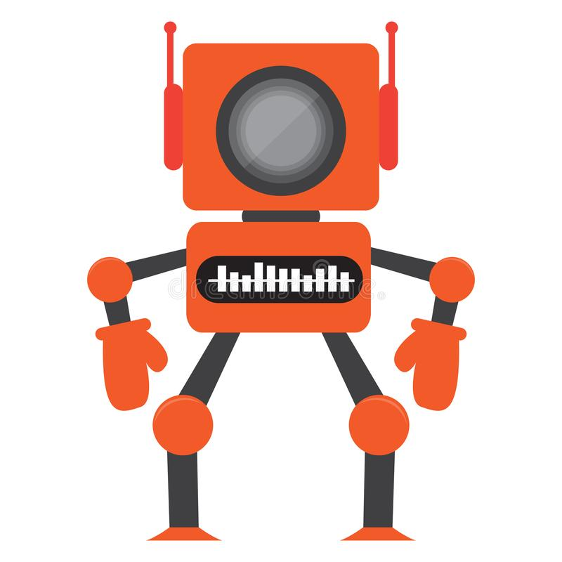 Geïsoleerd robotstuk speelgoed - Vector royalty-vrije illustratie