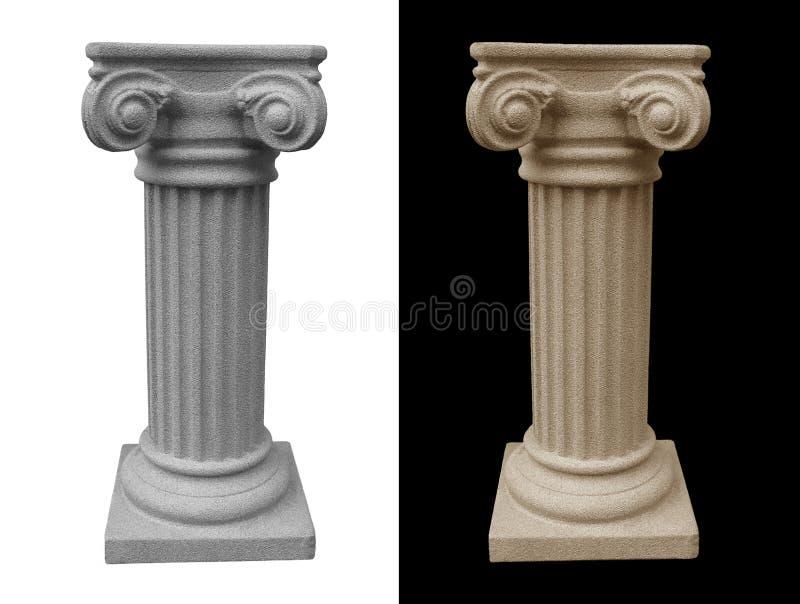 Geïsoleerd Roman Voetstuk stock afbeeldingen