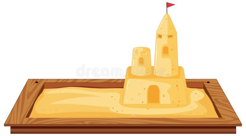 Geïsoleerd sandpit op witte achtergrond royalty-vrije illustratie
