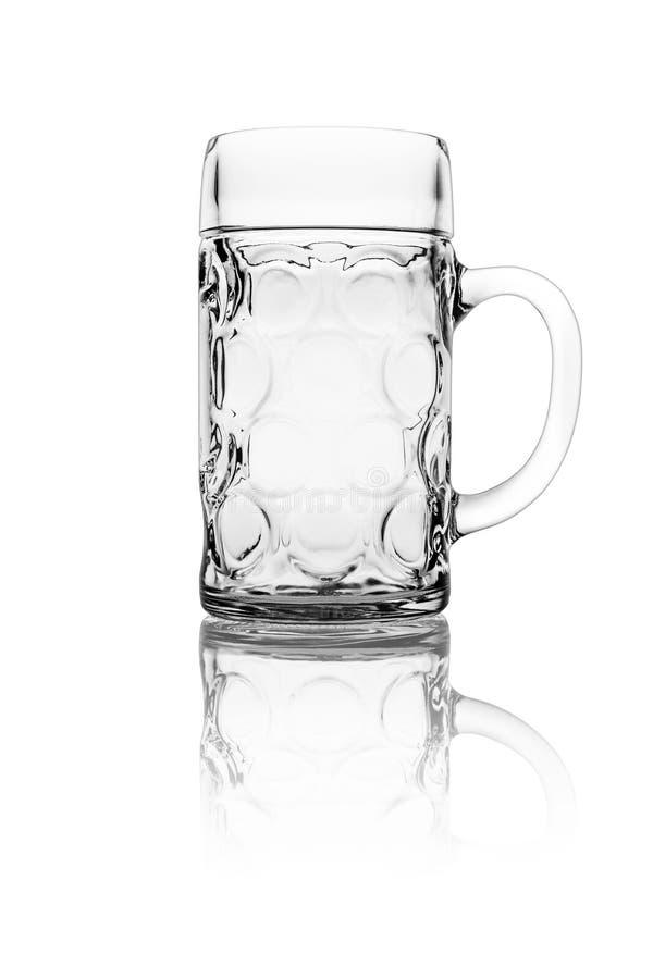 Geïsoleerd stenen bierkroesglas royalty-vrije stock foto's
