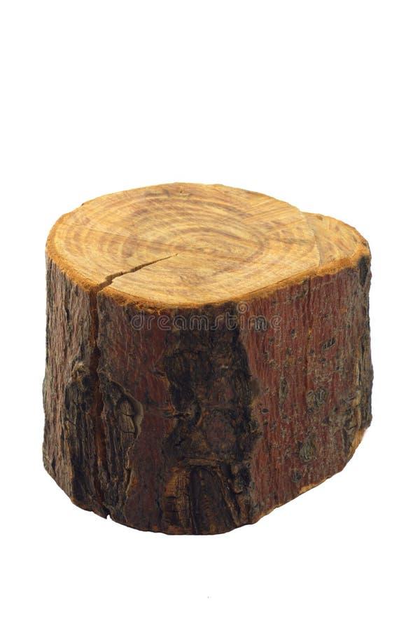 Geïsoleerd stuk van hout, stock foto's