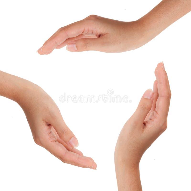 Geïsoleerd symbool van menselijke handen royalty-vrije stock foto