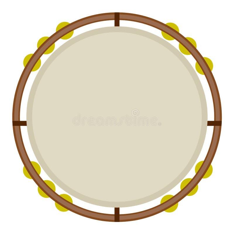 Geïsoleerd tamboerijnbeeld vector illustratie
