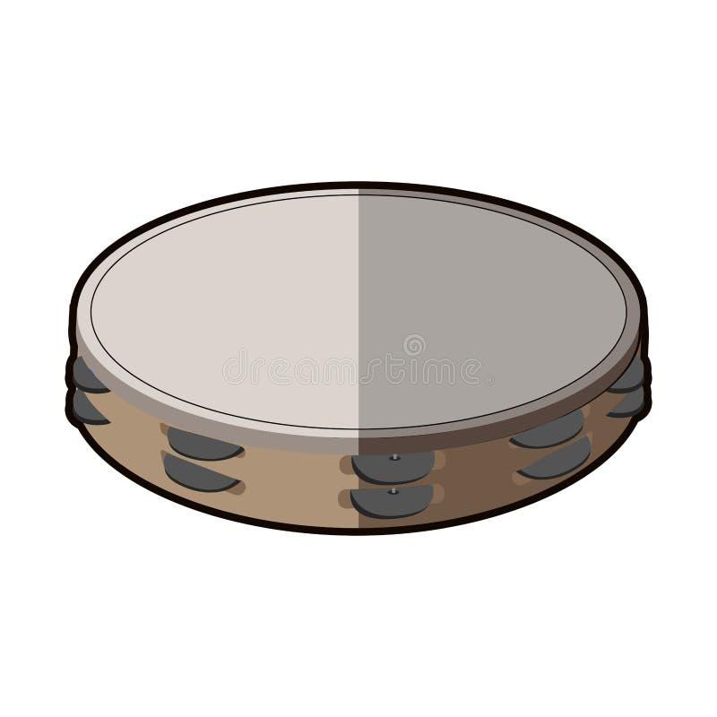 Geïsoleerd tamboerijnpictogram stock illustratie