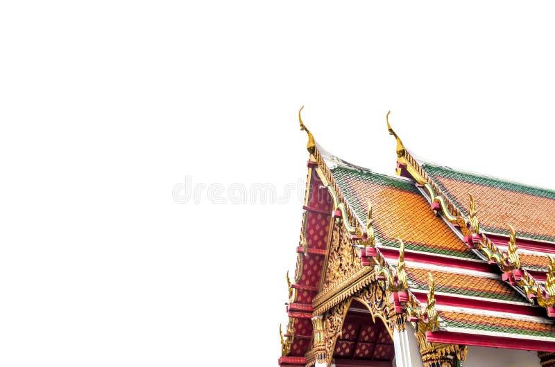 Geïsoleerd tempeldak stock afbeeldingen