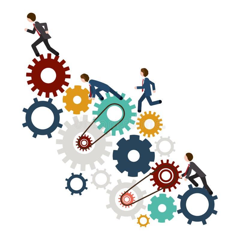 Geïsoleerd toestel en businessperson ontwerp vector illustratie