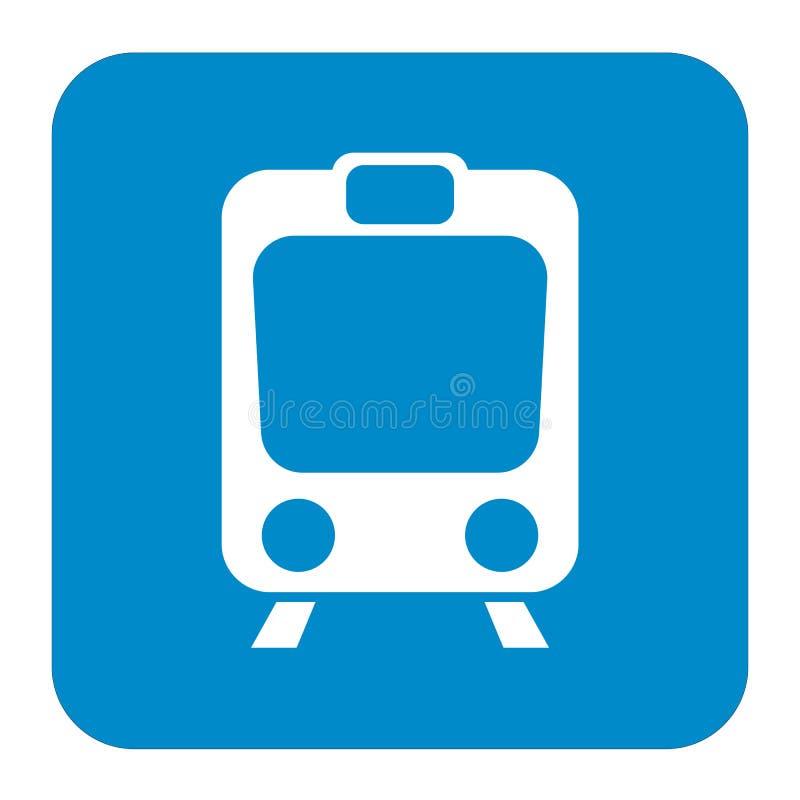Geïsoleerd treinpictogram stock illustratie