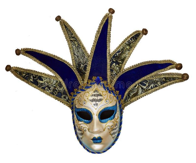Geïsoleerd Venetiaans masker op een witte achtergrond stock afbeeldingen
