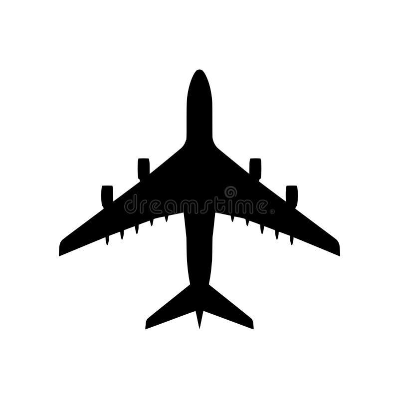 Geïsoleerd vliegtuigsilhouet - PNG stock illustratie