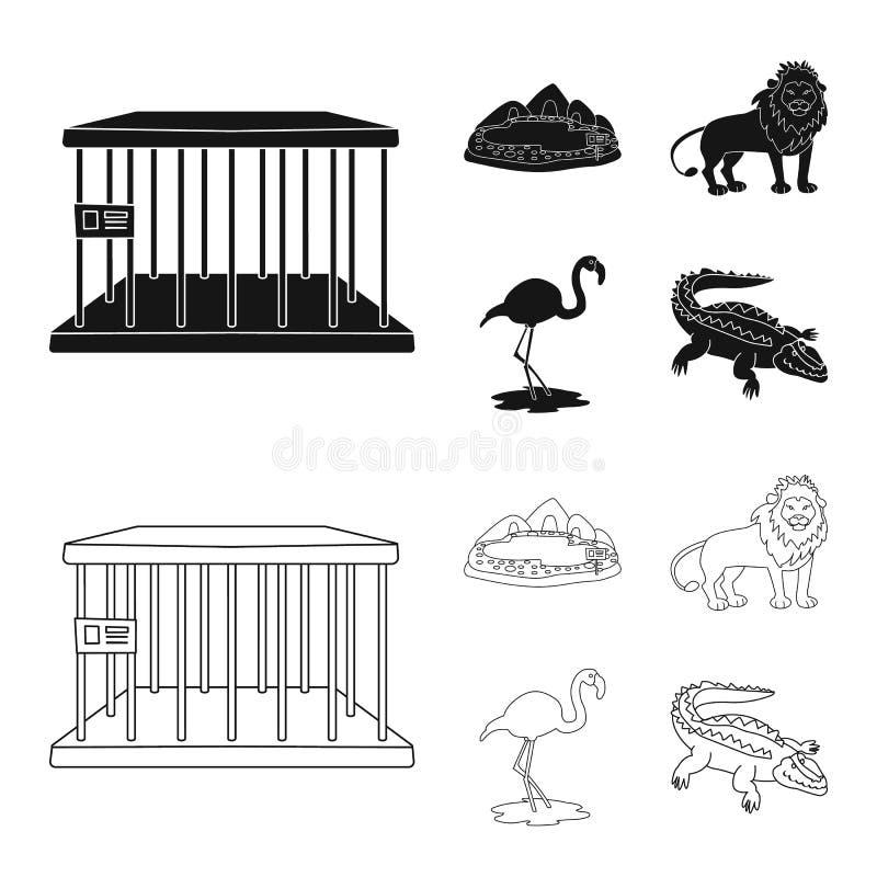 Geïsoleerd voorwerp van aard en pretembleem Reeks van aard en vermaak vectorpictogram voor voorraad stock illustratie