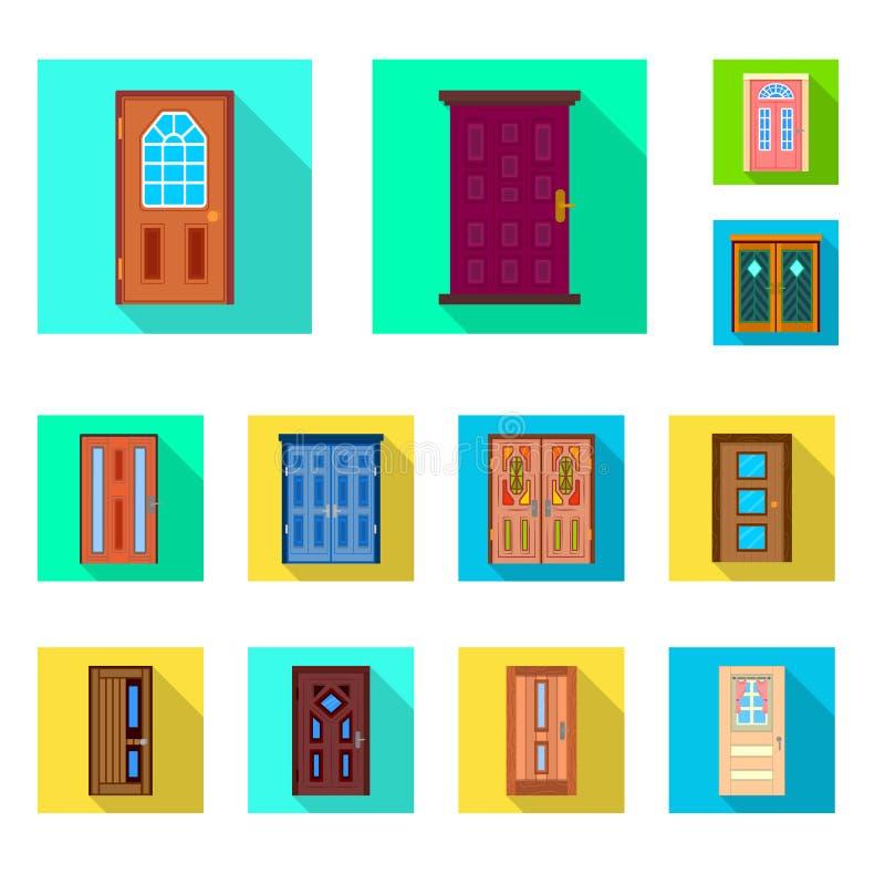 Geïsoleerd voorwerp van architectuur en modern embleem Reeks van architectuur en bouw vectorpictogram voor voorraad vector illustratie