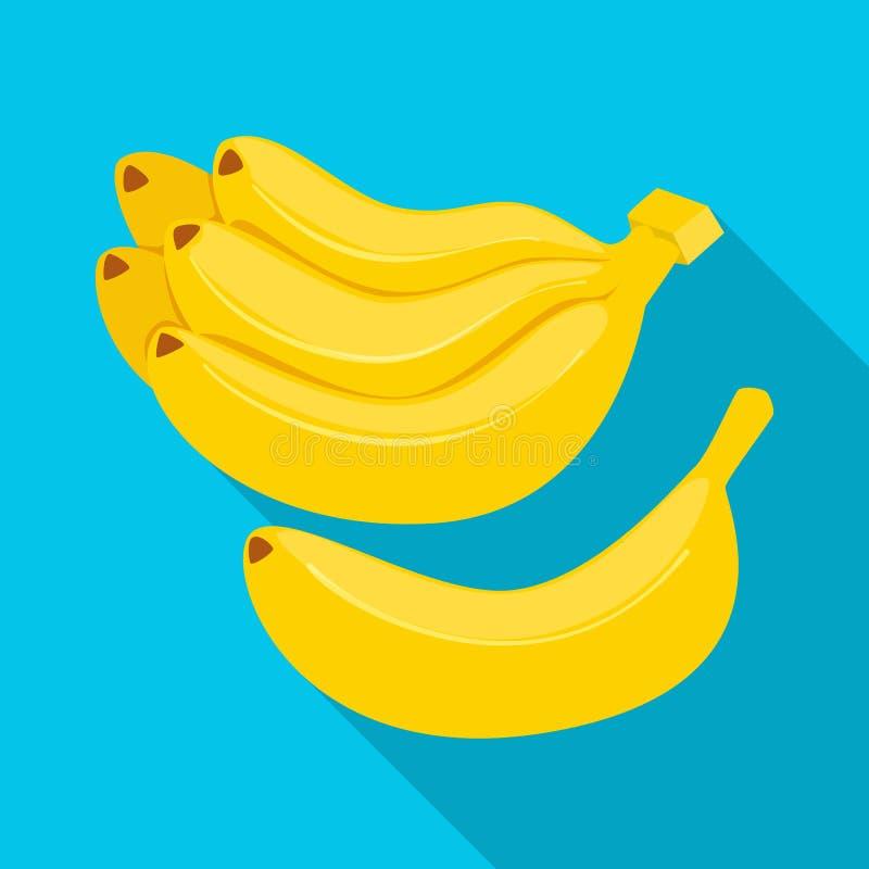 Geïsoleerd voorwerp van banaan en bossymbool Inzameling van banaan en fruit vectorpictogram voor voorraad stock illustratie