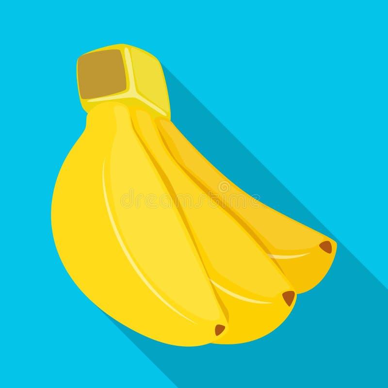 Geïsoleerd voorwerp van banaan en bosteken Reeks van banaan en fruitvoorraadsymbool voor Web stock illustratie