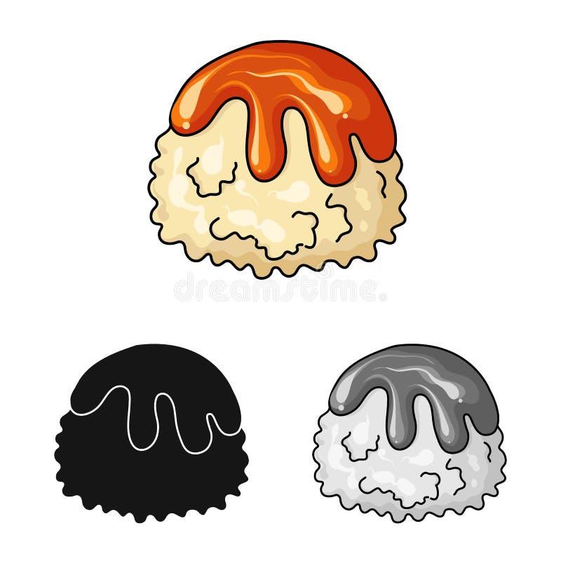 Geïsoleerd voorwerp van banketbakkerij en culinair embleem Inzameling van banketbakkerij en productvoorraadsymbool voor Web stock illustratie