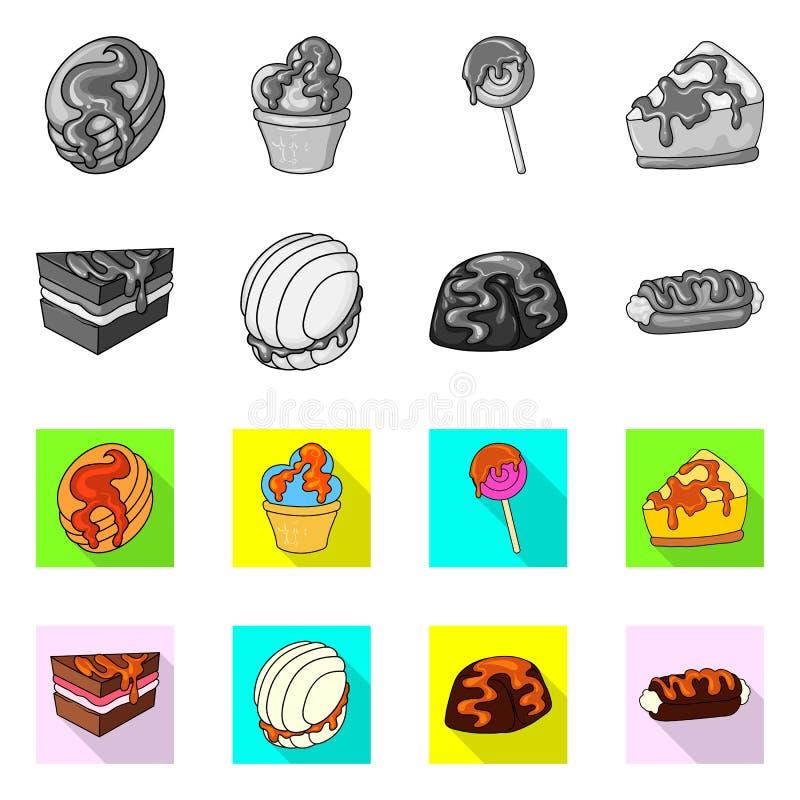 Geïsoleerd voorwerp van banketbakkerij en culinair pictogram Reeks van banketbakkerij en product vectorpictogram voor voorraad vector illustratie