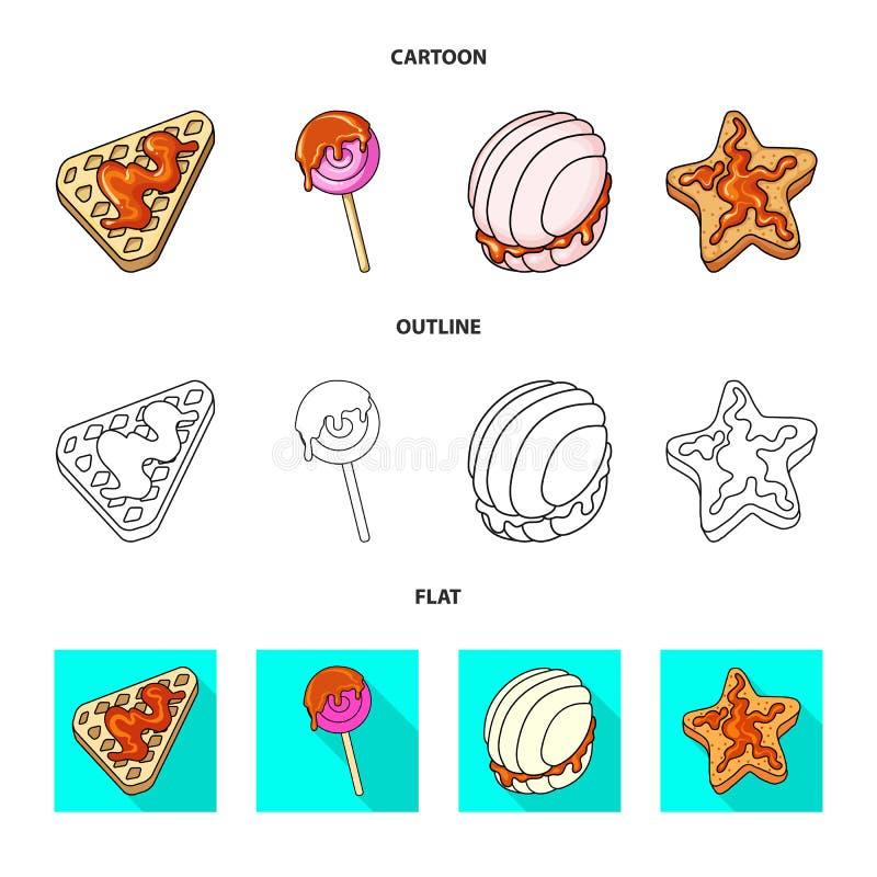 Geïsoleerd voorwerp van banketbakkerij en culinair pictogram Reeks van banketbakkerij en productvoorraad vectorillustratie royalty-vrije illustratie