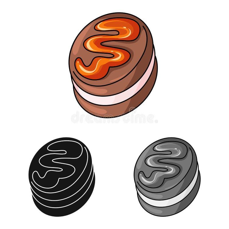Geïsoleerd voorwerp van banketbakkerij en culinair symbool Inzameling van banketbakkerij en product vectorpictogram voor voorraad royalty-vrije illustratie