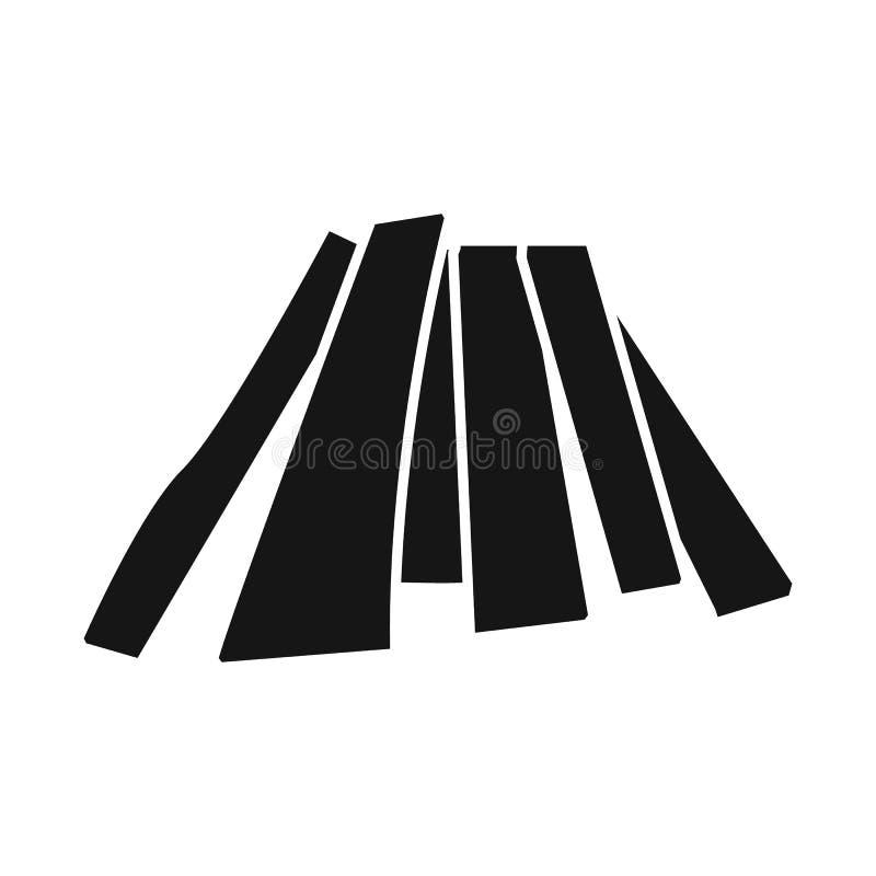 Geïsoleerd voorwerp van brandhout en boompictogram Reeks van brandhout en houten voorraad vectorillustratie vector illustratie
