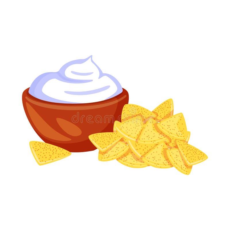 Geïsoleerd voorwerp van cracker en koekjessymbool Inzameling van cracker en roomvoorraadsymbool voor Web stock illustratie