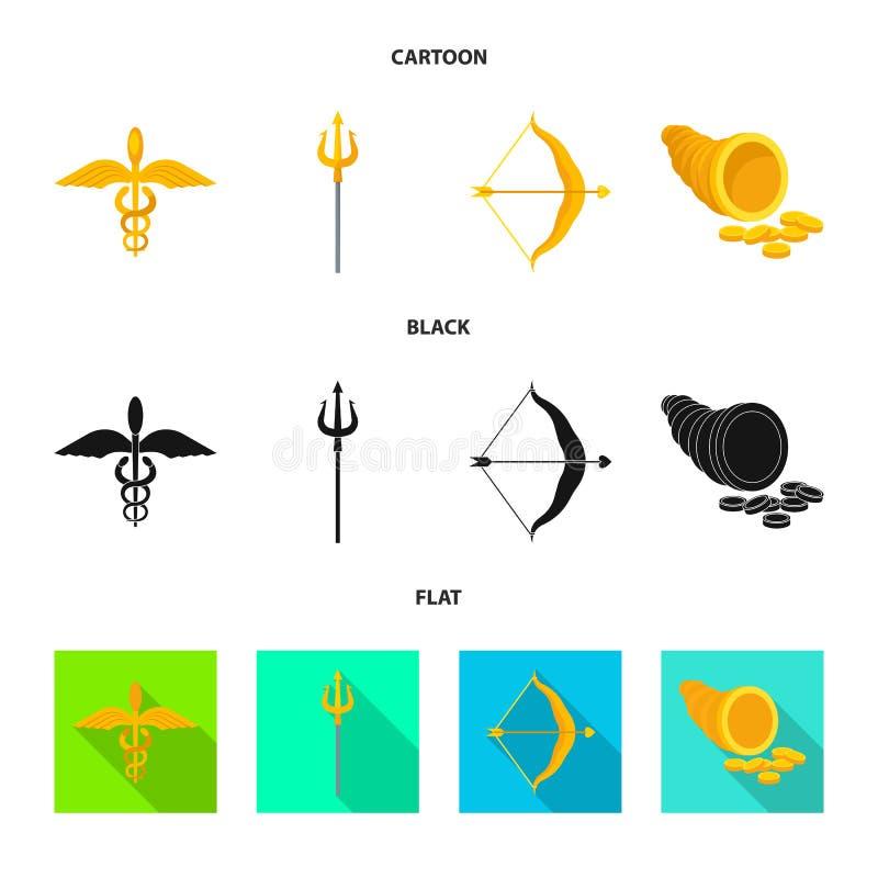 Geïsoleerd voorwerp van deity en antiek embleem Reeks van deity en van de mythenvoorraad vectorillustratie vector illustratie