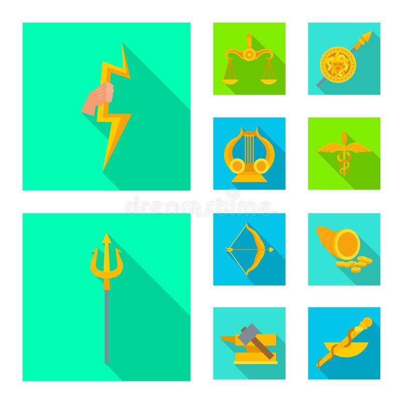 Geïsoleerd voorwerp van deity en antiek symbool Reeks van deity en mythen vectorpictogram voor voorraad vector illustratie
