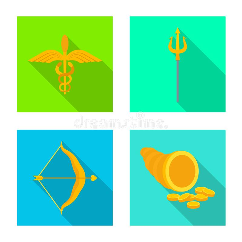 Geïsoleerd voorwerp van deity en antiek teken Reeks van deity en mythen vectorpictogram voor voorraad royalty-vrije illustratie