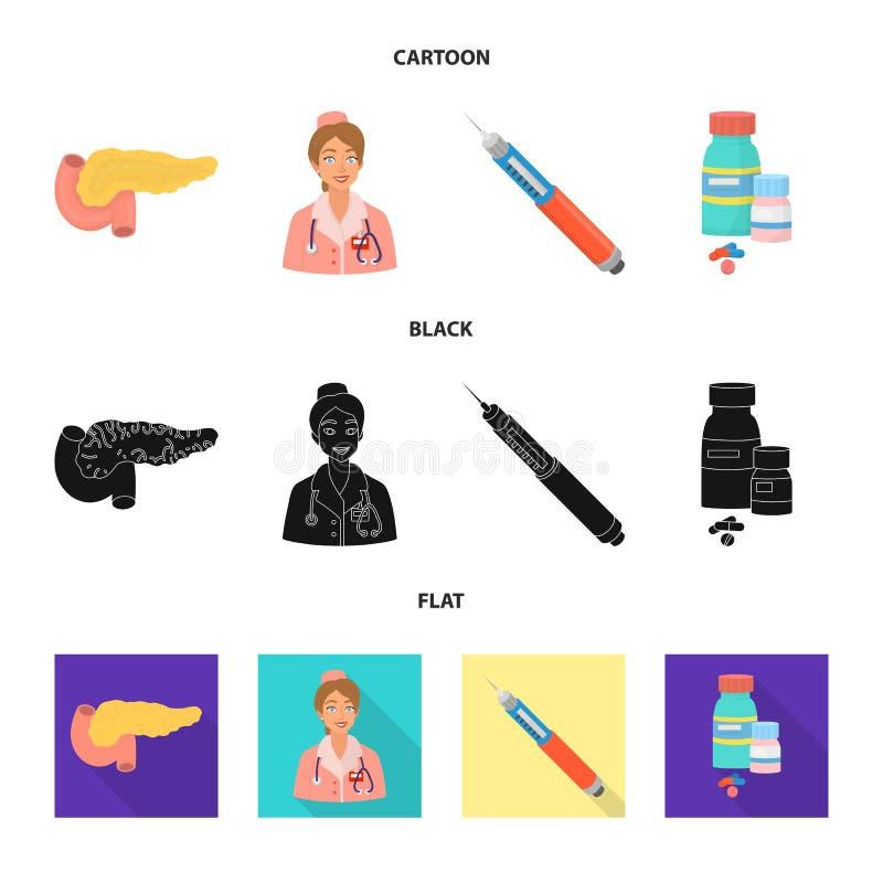 Geïsoleerd voorwerp van dieet en behandelingspictogram Inzameling van dieet en geneeskunde vectorpictogram voor voorraad stock illustratie