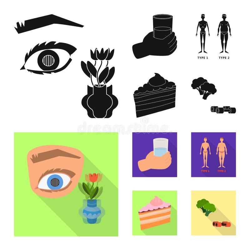 Geïsoleerd voorwerp van dieet en behandelingssymbool Inzameling van dieet en geneeskunde vectorpictogram voor voorraad vector illustratie