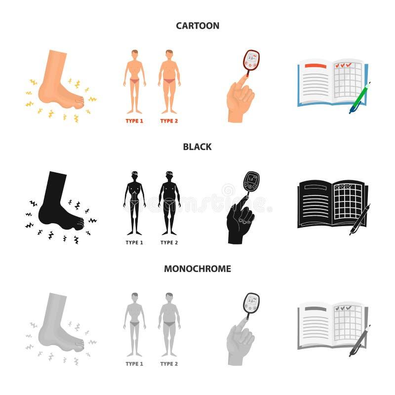 Geïsoleerd voorwerp van dieet en behandelingssymbool Reeks van dieet en de vectorillustratie van de geneeskundevoorraad stock illustratie