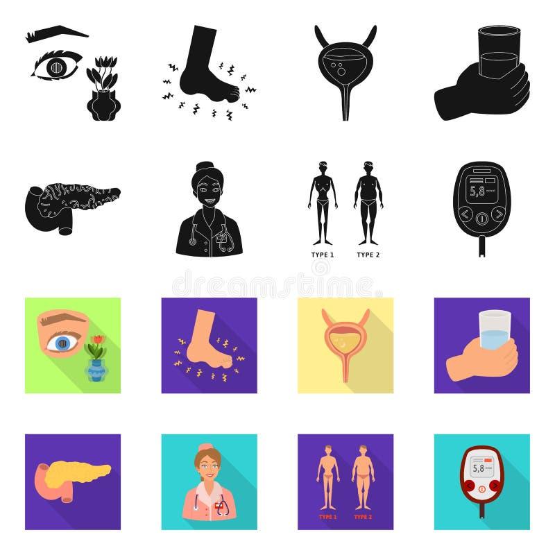 Geïsoleerd voorwerp van dieet en behandelingssymbool Reeks van dieet en het symbool van de geneeskundevoorraad voor Web stock illustratie