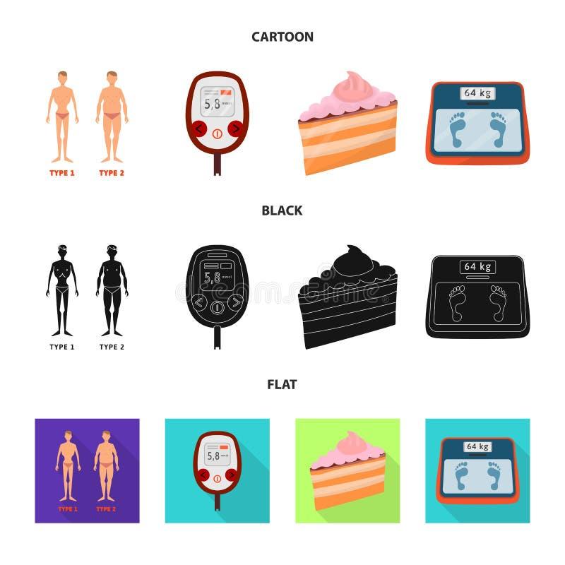 Geïsoleerd voorwerp van dieet en behandelingsteken Reeks van dieet en geneeskunde vectorpictogram voor voorraad royalty-vrije illustratie