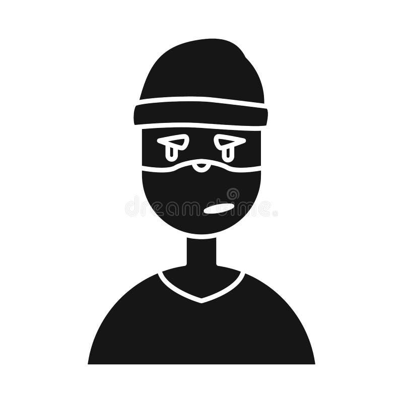 Geïsoleerd voorwerp van dief en inbrekerteken Reeks van dief en hakker vectorpictogram voor voorraad royalty-vrije illustratie