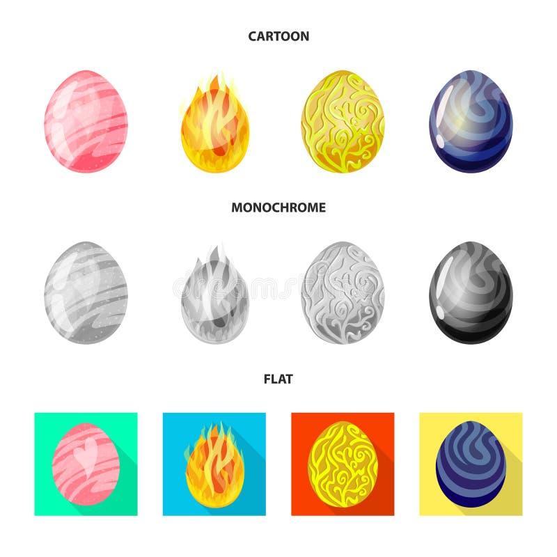 Geïsoleerd voorwerp van dierlijk en voorhistorisch embleem Reeks van dierlijk en leuk vectorpictogram voor voorraad stock afbeeldingen