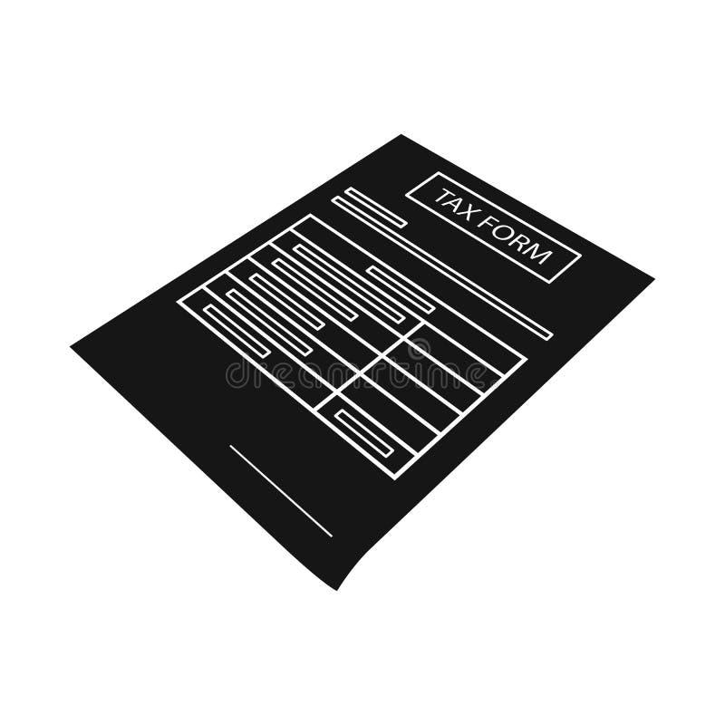 Geïsoleerd voorwerp van document en presentatieembleem Inzameling van document en tekst vectorpictogram voor voorraad stock illustratie