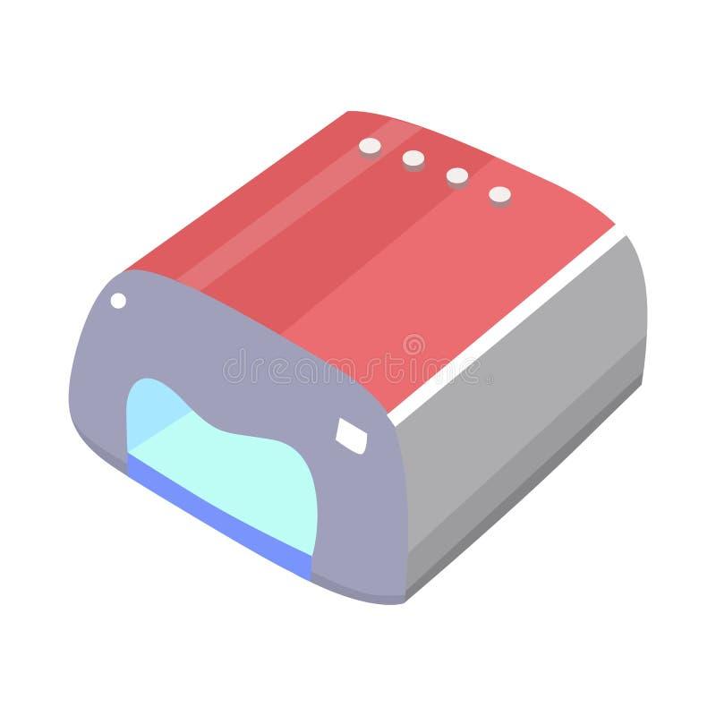 Geïsoleerd voorwerp van droger en elektrisch bord Webelement van de illustratie van de droger- en apparaatvoorraadvector vector illustratie