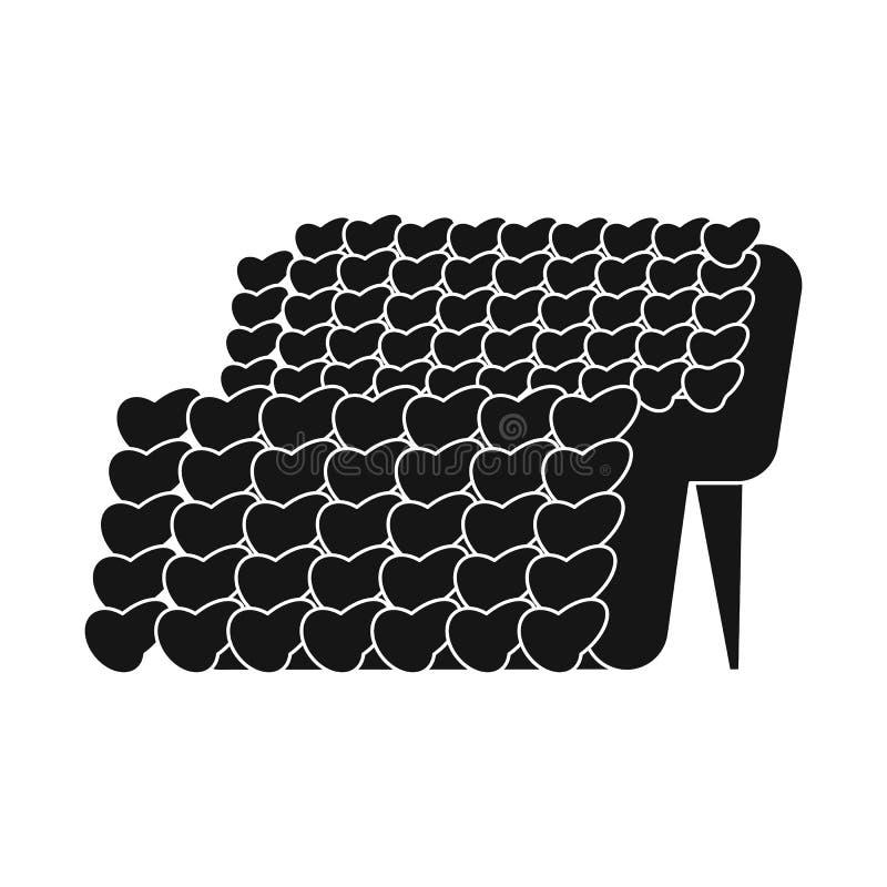 Geïsoleerd voorwerp van gebreid en bankteken Reeks van de gebreide en vectorillustratie van de laagvoorraad stock illustratie