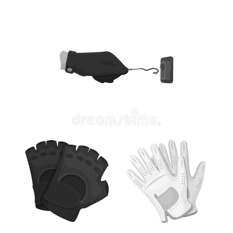 Geïsoleerd voorwerp van gebreid en bewaarderssymbool Reeks van de gebreide en vectorillustratie van de handvoorraad vector illustratie
